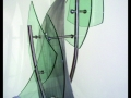 Glass & Stainless Steel Freestanding Table Sculpture