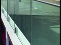 Side Mount Brick Floated Glass Balustrade